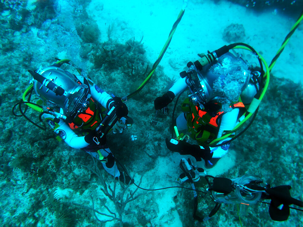 NEEMO 23 Aquanauts are performing research at the bottom of the ocean